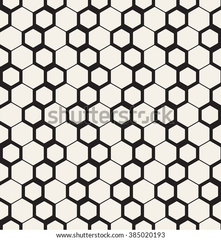 Vector seamless pattern. Modern stylish texture. Repeating geometric background with smooth hexagonal grid.