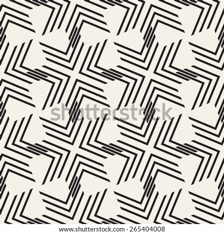 Vector seamless pattern. Modern stylish texture. Repeating geometric background with triple chevron. - stock vector