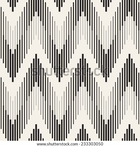 Vector seamless pattern. Modern stylish texture. Repeating geometric background with zigzag - stock vector
