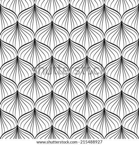 Vector seamless pattern. Modern stylish texture. Repeating geometric black and white background .Vector illustration