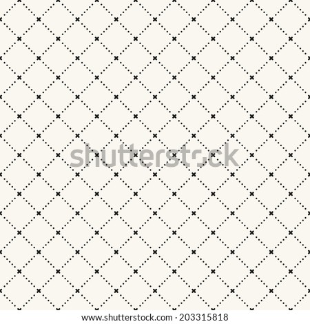Vector seamless pattern. Modern stylish texture. Repeating geometric tile. Dotted rhombuses - stock vector