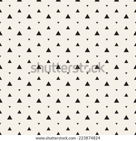 Vector seamless pattern. Modern stylish texture. Repeating geometric tiles. Composition from triangles - stock vector