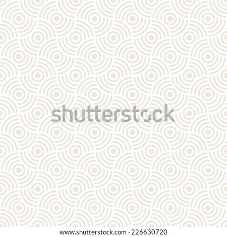 Vector seamless pattern. Modern stylish texture. Repeating geometric tiles. Concentric circles - stock vector