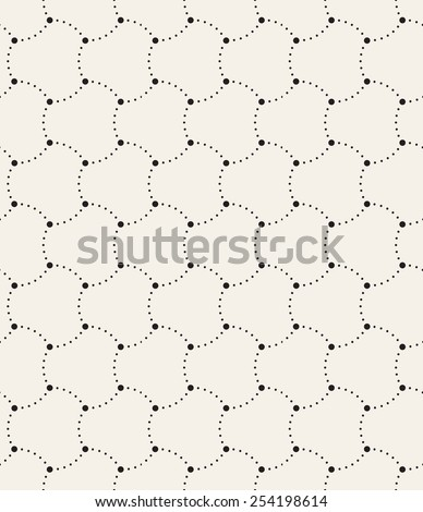 Vector seamless pattern. Modern stylish texture. Repeating geometric tiles. Dotted simple background. Monochrome graphic design