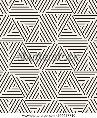 Vector seamless pattern. Modern stylish texture. Repeating geometric tiles from striped elements - stock vector