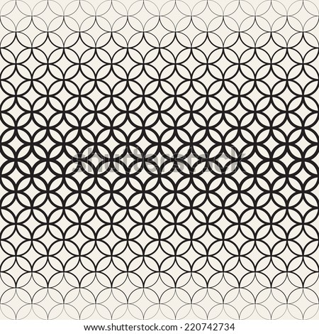 Vector seamless pattern. Modern stylish texture. Repeating geometric tiles. Halftone linear grid - stock vector