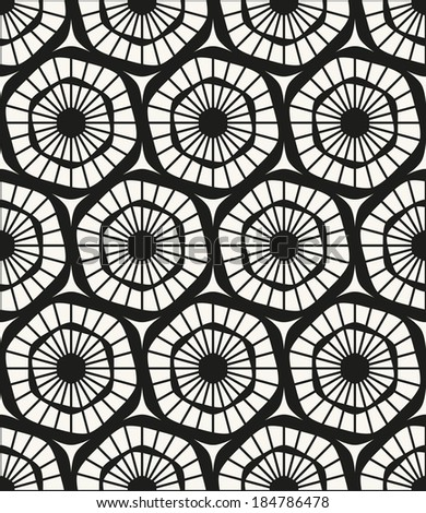 Vector seamless pattern. Modern stylish texture. Repeating geometric tiles. Ornate hexagons