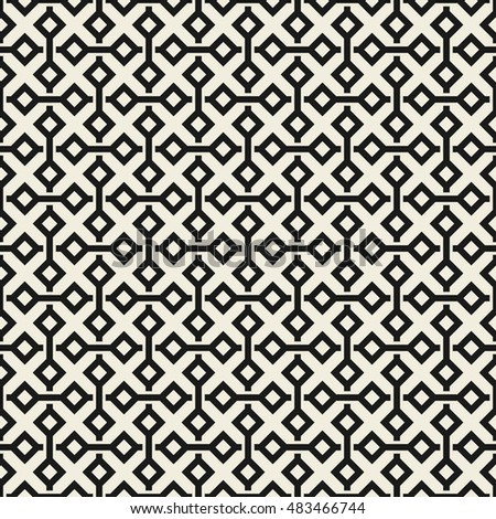 Vector seamless pattern. Modern stylish texture. Repeating geometric tiles with abstract mosaic.