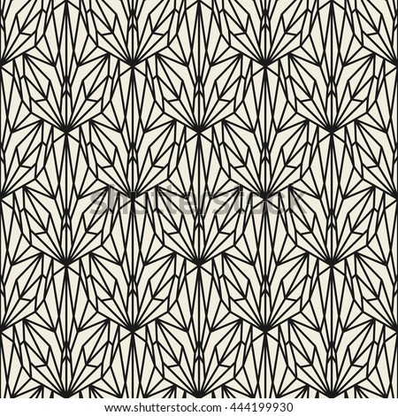 Vector seamless pattern. Modern stylish texture. Repeating geometric tiles with crystal ornament.
