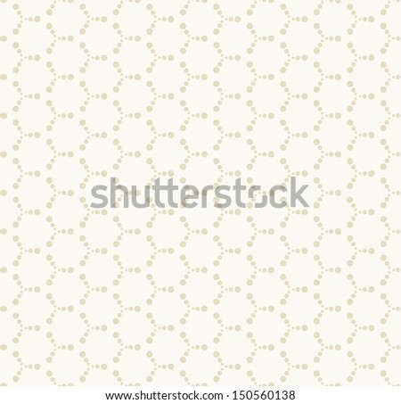 Vector seamless pattern. Modern stylish texture. Repeating geometric tiles with dotted hexagons - stock vector