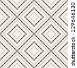 Vector seamless pattern. Modern stylish texture. Repeating geometric tiles with dotted rhombus - stock photo