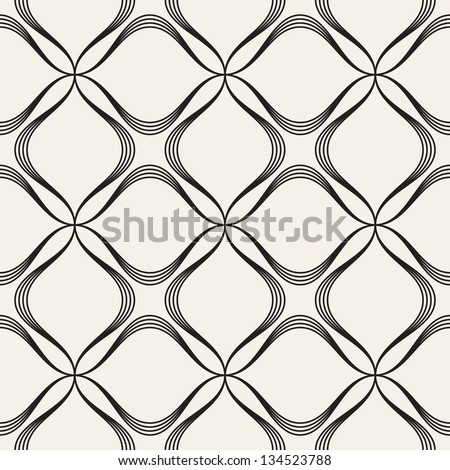 Vector seamless pattern. Modern stylish texture. Repeating geometric tiles with dotted rhombus - stock vector