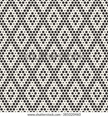 Vector seamless pattern. Modern stylish texture. Repeating geometric tiles with dotted rhombuses. Monochrome graphic design - stock vector