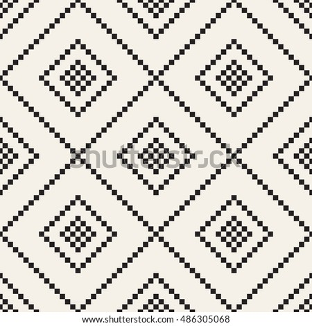 Vector seamless pattern. Modern stylish texture. Repeating geometric tiles with dotted rhombuses or squares. Simple minimalistic backdrop.