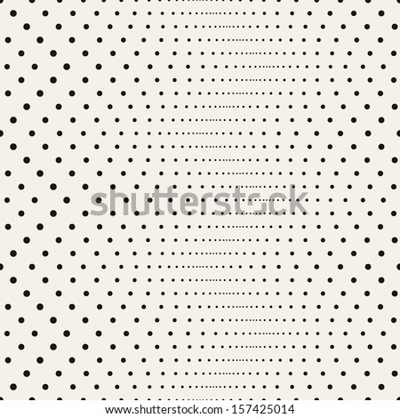 Vector seamless pattern. Modern stylish texture. Repeating geometric tiles with dotted zigzag - stock vector