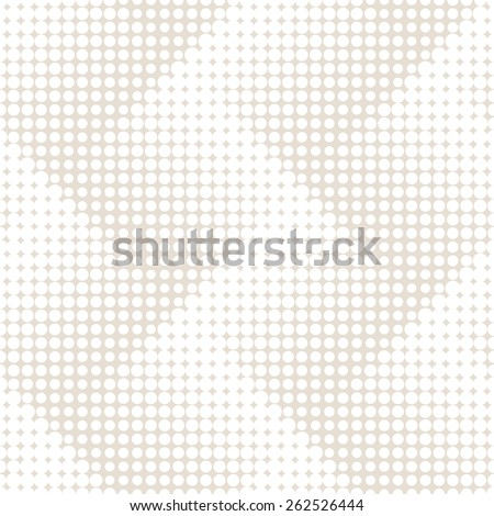 Vector seamless pattern. Modern stylish texture. Repeating geometric tiles with dotted zigzag. Monochrome background with halftone effect. Contemporary graphic design. - stock vector