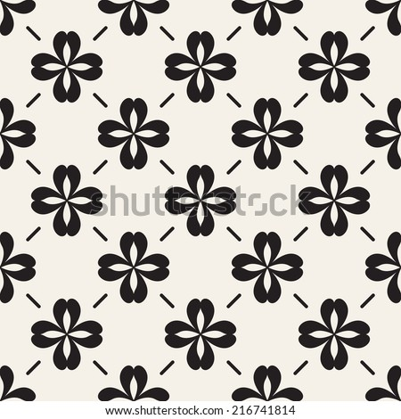 Vector seamless pattern. Modern stylish texture. Repeating geometric tiles with geometric flowers