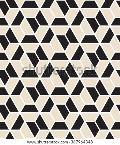 Vector seamless pattern. Modern stylish texture. Repeating geometric tiles with hexagonal grid. - stock vector