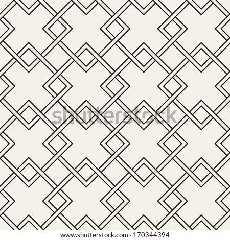 Vector seamless pattern. Modern stylish texture. Repeating geometric tiles with intertwined rhombuses - stock vector