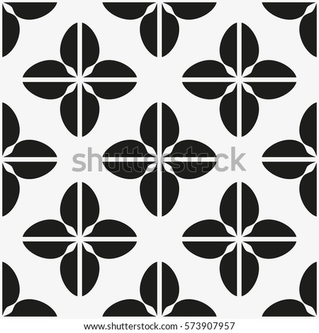 Vector seamless pattern. Modern stylish texture. Repeating geometric tiles with lattice.