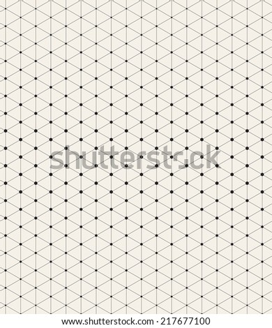 Vector seamless pattern. Modern stylish texture. Repeating geometric tiles with linear rhombuses - stock vector