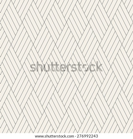 Vector seamless pattern. Modern stylish texture. Repeating geometric tiles with linear striped rhombuses. Contemporary graphic design.