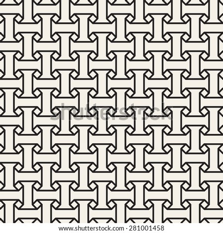 Vector seamless pattern. Modern stylish texture. Repeating geometric tiles with regular elements. - stock vector