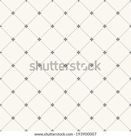 Vector seamless pattern. Modern stylish texture. Repeating geometric tiles with regular stars
