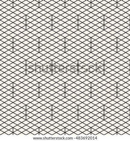 Vector seamless pattern. Modern stylish texture. Repeating geometric tiles with rhombuses and triangles.