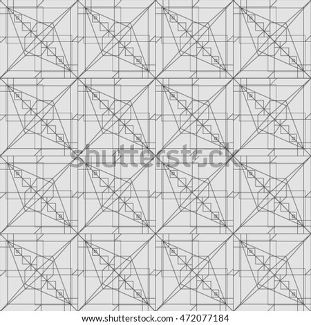 Vector seamless pattern. Modern stylish texture. Repeating geometric tiles with smooth grid