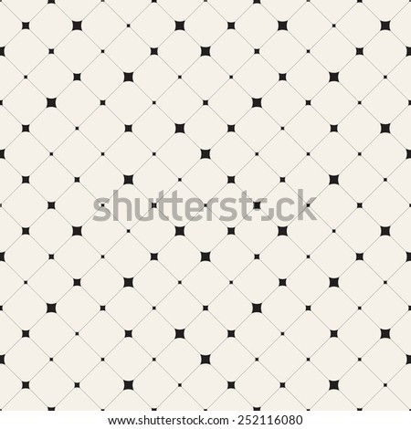 Vector seamless pattern. Modern stylish texture. Repeating geometric tiles with smooth rhombuses. Variously sized stars in nodes