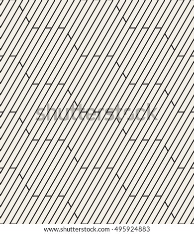 Vector seamless pattern. Modern stylish texture. Repeating geometric tiles with striped hexagons.