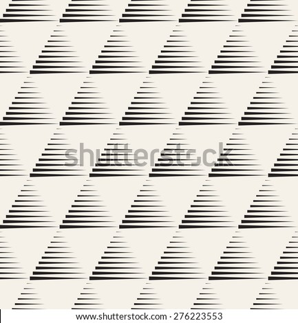 Vector seamless pattern. Modern stylish texture. Repeating geometric tiles with striped triangles. Monochrome hipster print. Contemporary graphic design.
