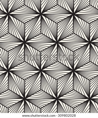 Vector seamless pattern. Modern stylish texture. Repeating geometric tiles with triangles. Contemporary graphic design. Simple hipster background. - stock vector