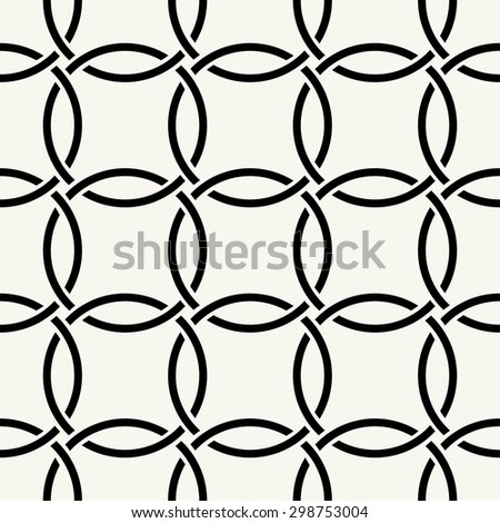 Vector seamless pattern. Modern stylish texture. Repeating intertwining cordage, ropes. - stock vector