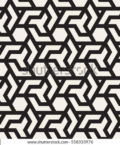 Vector Seamless Pattern Modern Stylish Texture Stock Vector ...