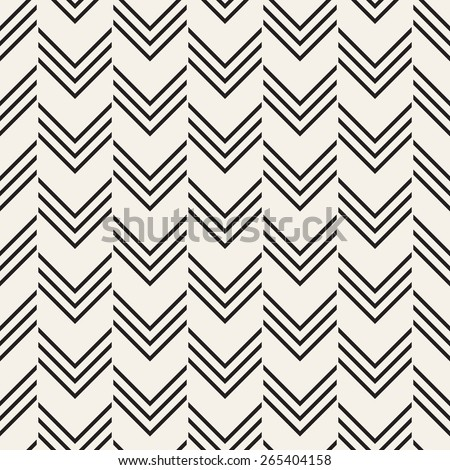 Vector seamless pattern. Modern stylish texture with zigzag. Repeating geometric background with triple chevron. - stock vector