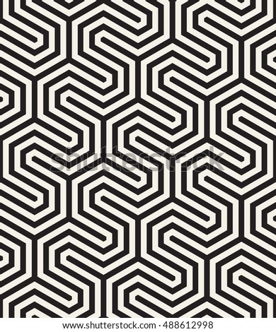 Vector seamless pattern. Modern zigzag texture. Repeating geometric background.