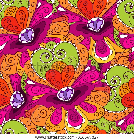 Vector seamless pattern of fairy tale shells. Good for banner, textile, print, cover, package