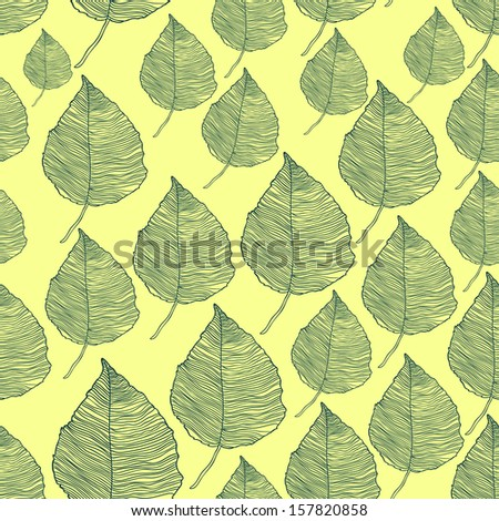 Vector seamless pattern of fantasy colored autumn leaves