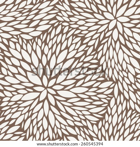 Vector seamless pattern of leaves in contrasting colors - stock vector