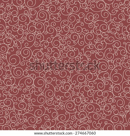 Vector seamless pattern of small curls. Hand drawn abstract line. It is a perfect background for your design. - stock vector