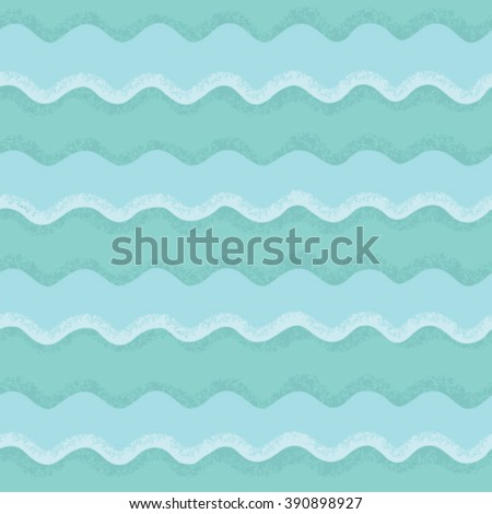 Vector seamless pattern of waves