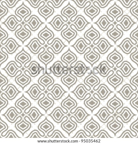 Vector seamless pattern on white background. Vector illustration. - stock vector