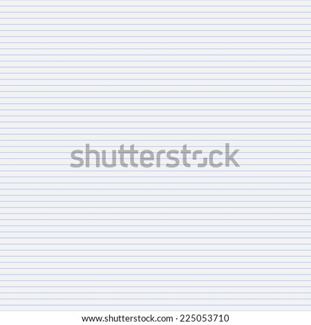 Vector seamless pattern paper exercise book in a line.Texture notebook sheet - stock vector