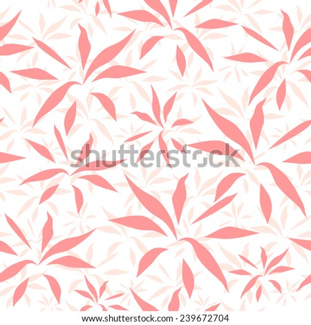 Vector seamless pattern.  Pink flowers vector design. Seamless pattern for your design wallpapers, pattern fills, web page backgrounds, surface textures. - stock vector