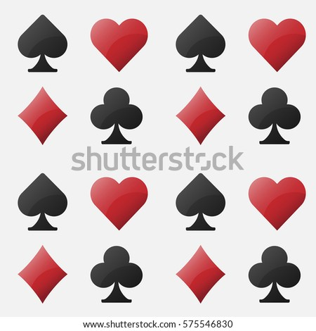 Vector seamless pattern poker. Background card symbols.