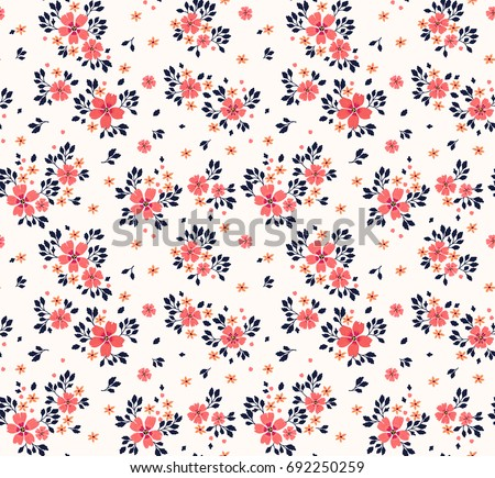 Vector seamless pattern pretty pattern small stok vektr 692250259 vector seamless pattern pretty pattern in small flower small red orange flowers mightylinksfo