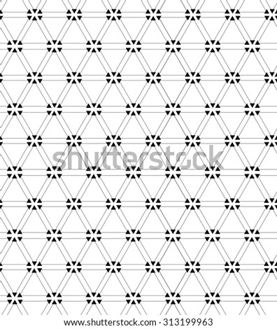 Vector seamless pattern.  Repeating geometric background with rhombus.