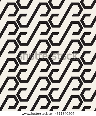 Vector seamless pattern. Repeating geometric texture. Graphic striped background.